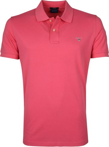 Gant Polo Shirt Rugger Rosa