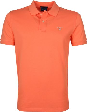 Gant Polo Shirt Rugger Russet Orange