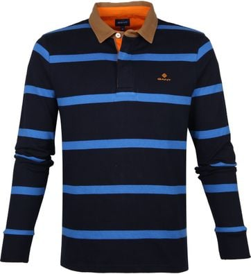 Gant Polo Shirt Stripes Navy