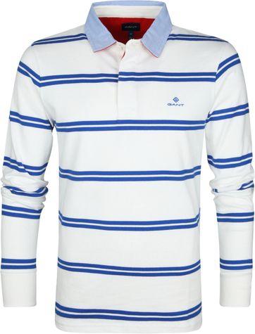 Gant Polo Strepen Blauw Wit