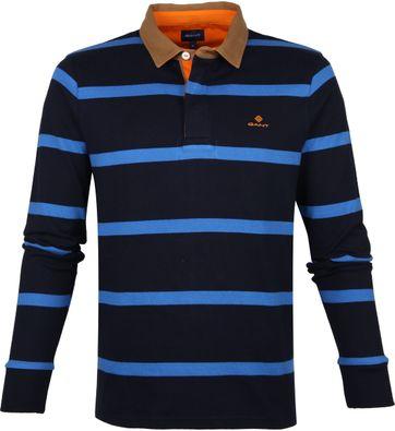 Gant Polo Strepen Donkerblauw