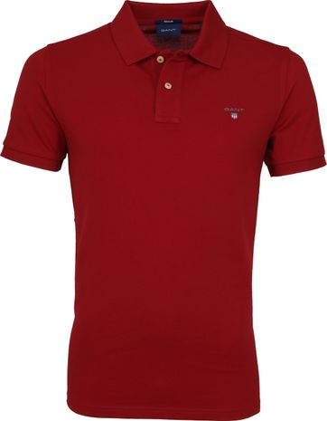 Gant Poloshirt Basic Bordeaux