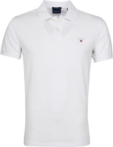 Gant Poloshirt Basic Wit