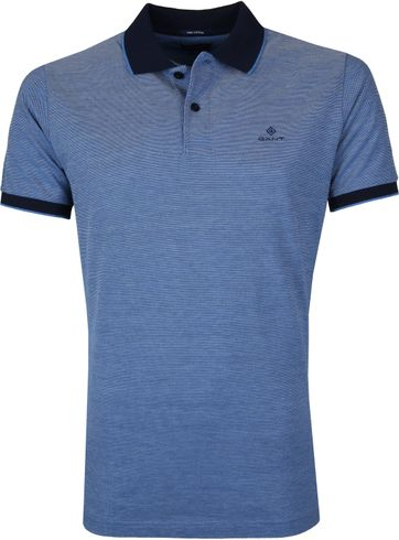 Gant Poloshirt Blauw Melange