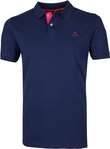 Gant Poloshirt Dark Blue Pink