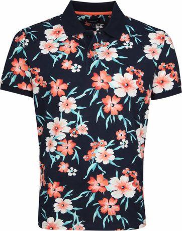 Gant Poloshirt Floral Pique Navy