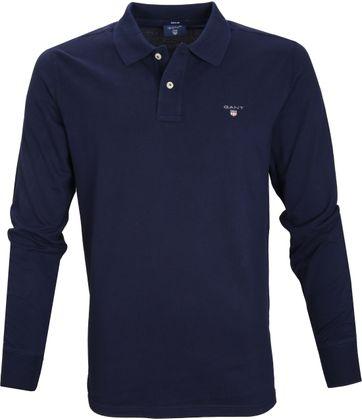 Gant Poloshirt lange Ärmel Navy 433