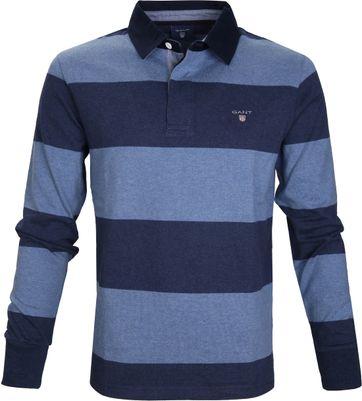 Gant Poloshirt Lange Ärmel Rugby Blue