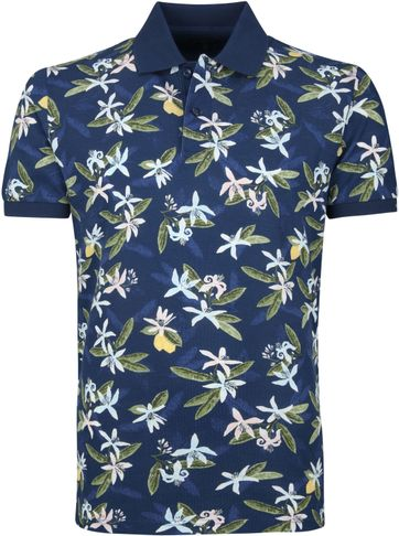 Gant Poloshirt Lemon Flower Dark Blue