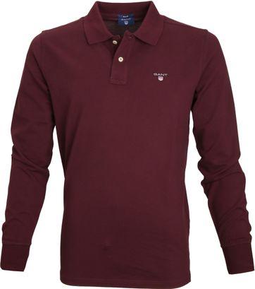 Gant Poloshirt Longsleeve Bordeaux