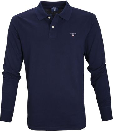 Gant Poloshirt Longsleeve Evening Blue