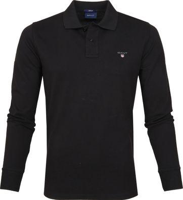 Gant Poloshirt LS Pique Black