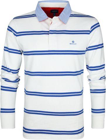 Gant Poloshirt Streifen Blau Weiß