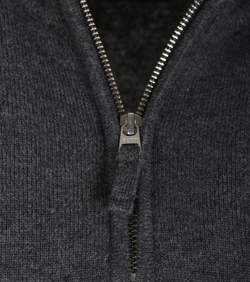 Detail Gant Pullover Antraciet Lamswol