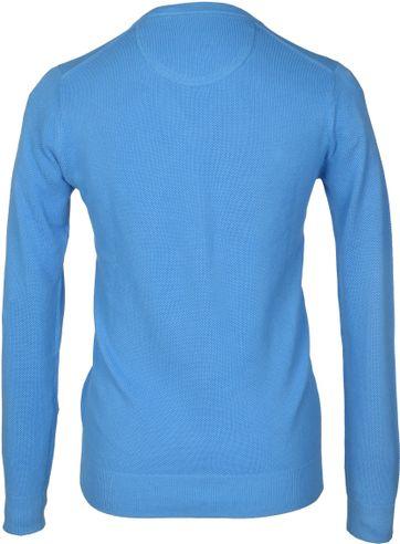 Detail Gant Pullover Blau V-Ausschnitt