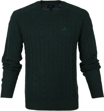 Gant Pullover Cable Dark Green