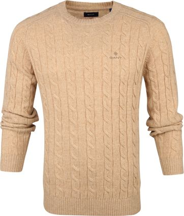Gant Pullover Cable Khaki