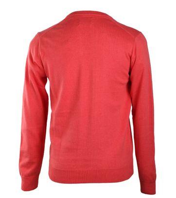 Detail Gant Pullover Katoen V-Hals Koraalrood