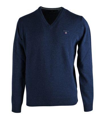 Gant Pullover Lammwolle Blau