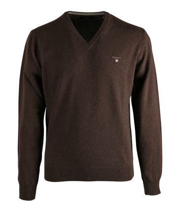Gant Pullover Lammwolle Braun