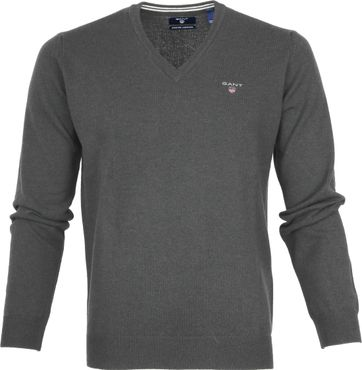 Gant Pullover Lammwolle Charcoal