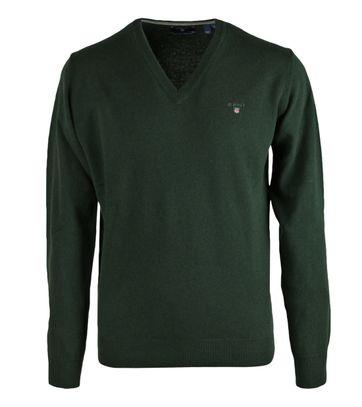 Gant Pullover Lammwolle Dunkelgrün