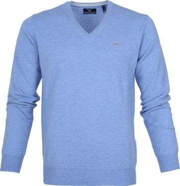 Gant Pullover Lammwolle Light Blue