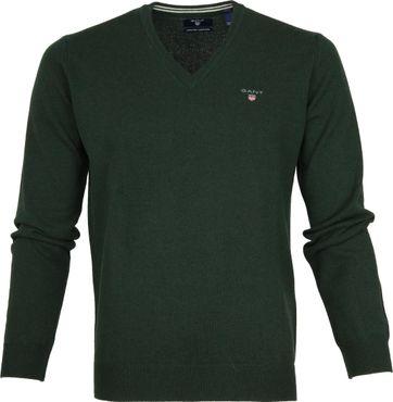 Gant Pullover Lammwolle Tartan Green