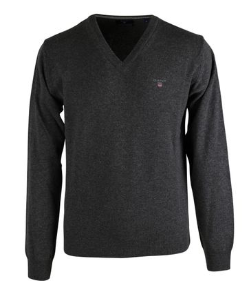 Gant Pullover Lamswol Antraciet