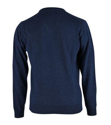 Detail Gant Pullover Lamswol Blauw