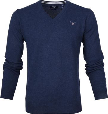 Gant Pullover Lamswol Blauw