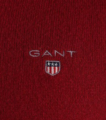 Detail Gant Pullover Lamswol Bordeaux
