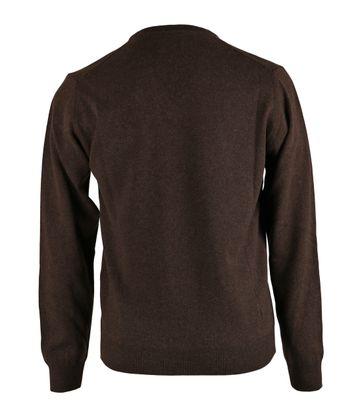 Detail Gant Pullover Lamswol Bruin