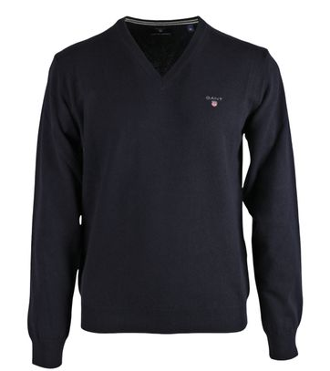 Gant Pullover Lamswol Donkerblauw