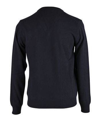 Detail Gant Pullover Lamswol Donkerblauw