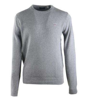 Gant Pullover Pique Grijs