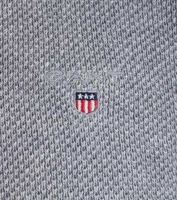 Detail Gant Pullover Pique Grijs