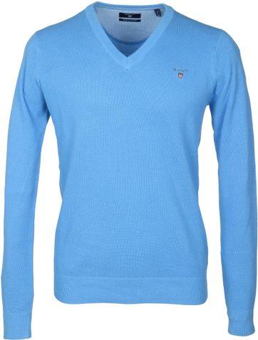 Gant Pullover V-Hals Blauw