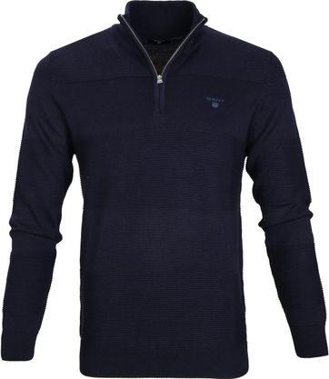 Gant Pullover Zipper Dessin Dunkelblau