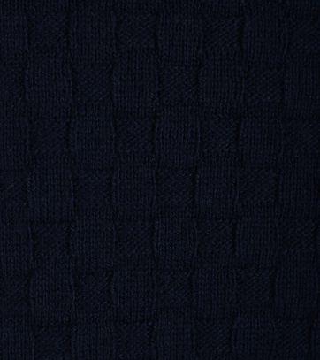 Detail Gant Pullover Zipper Donkerblauw