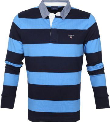 Gant Rugger LS Polo Blauw Donkerblauw