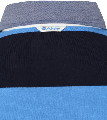 Gant Rugger LS Polo Grijs Donkerblauw