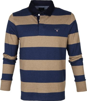 Gant Rugger LS Poloshirt Beige Blue