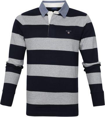 Gant Rugger LS Poloshirt Grey Navy