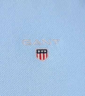 Detail Gant Rugger Polo Blauw