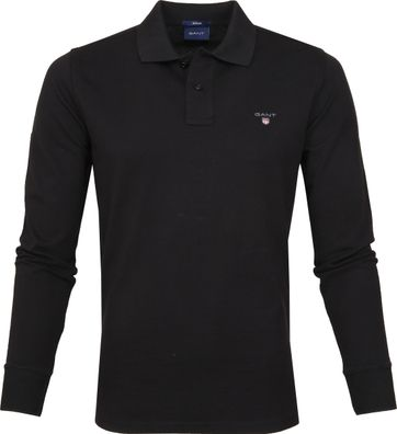 Gant Rugger Polo Shirt LS Black