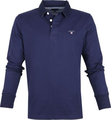 Gant Rugger Polo Shirt LS Navy