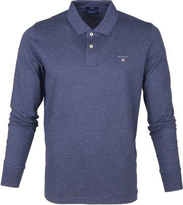 Gant Rugger Poloshirt LS Blauw