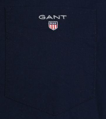 Gant Shirt Boradcloth Navy - Donkerblauw maat XXL