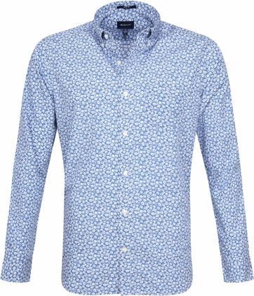 timeless design f2651 e4375 Gant Shirt Flowers Blue